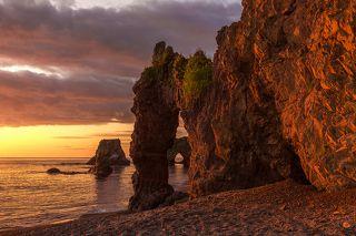 Памятник природы Мыс Птичий, Тонино-Анивский полуостров, остров Сахалин, август 2017