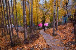 Autumn on its Peak Way to Katchura Lake Skardu GB  Pakrstan