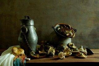 mushrooms and pumpkin