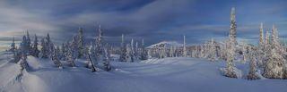 Панорама с видом на Каларское нагорье.