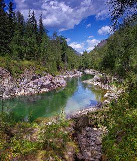 Река Кумир у Девьчьих плёсов (полдень)