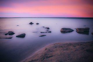 Закат на озере Шарташ. Фото с разной экспозицией