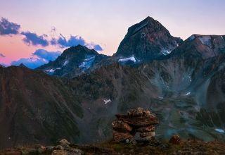 Кавказ. Куршо на закате