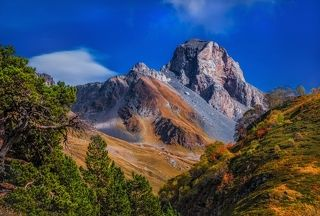 Кавказ р. Загеданка. г.Загедан-Скала
