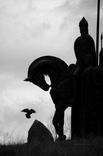 г.Псков. Памятник Александру Невскому на горе Соколиха.