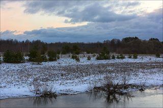 Восход в малоснежном феврале
