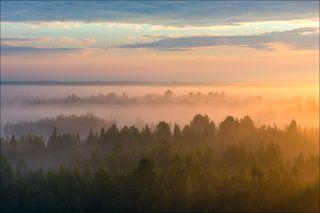 Восход над туманными просторами