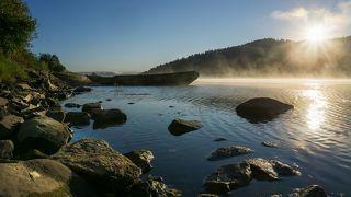 Восход на реке Мрас-Су