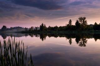 Поповский пруд вечером.