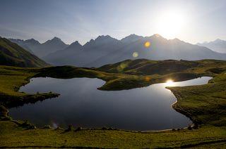 Озёра Корульди расположены на высоте 2850 метров над уровнем моря.