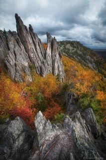 Двуглавая сопка. Национальный парк Таганай. Южный Урал.