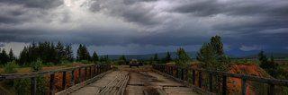 послендий целый мост через р.Куйдусун после пос.Томтор, дальше заброшенная Колымская трасса на магадан