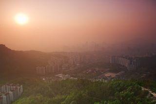 рассвет, Сеул, гора Ансан