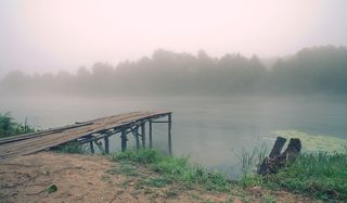 август. утро