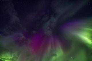 Каких только красок в небе мы не видели в тот вечер.