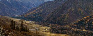 Долина Теректинского хребта (вид с перевала Чике-Таман)