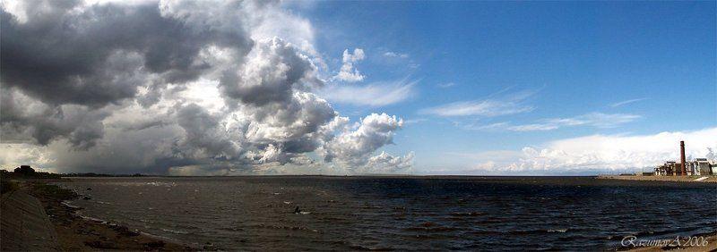 Панорама, Финский залив, пейзаж Два берега - две судьбыphoto preview