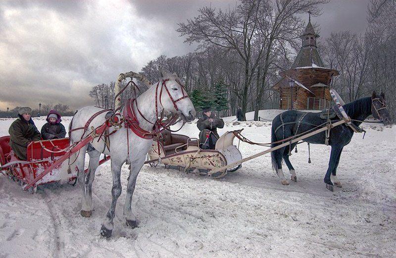 коломенское, зима, ямщик, возница, mju Ямщикиphoto preview