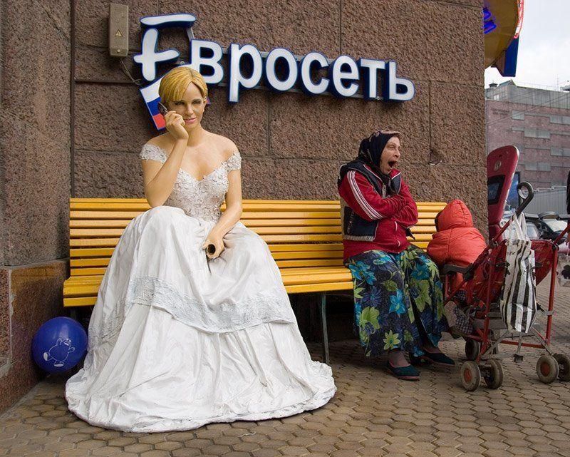 Москва, Тверская, манекен, скамейка, mju Тариф \
