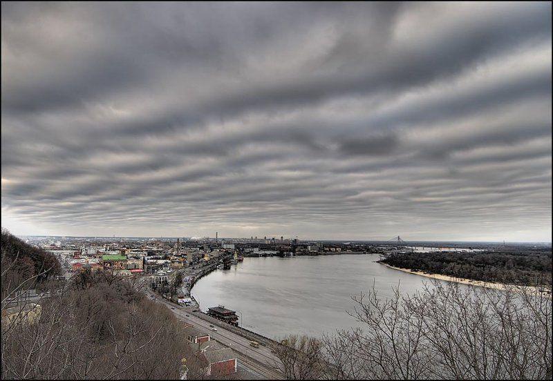 Киев, город, Днепр Дождливый декабрьphoto preview