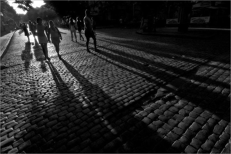 закат, одесса, дерибасовская,тени Закат на Дерибасовскойphoto preview
