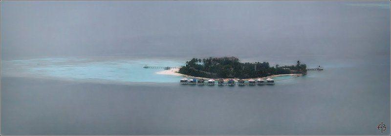 мальдивы остров домики бунгала остров Мальдивыphoto preview