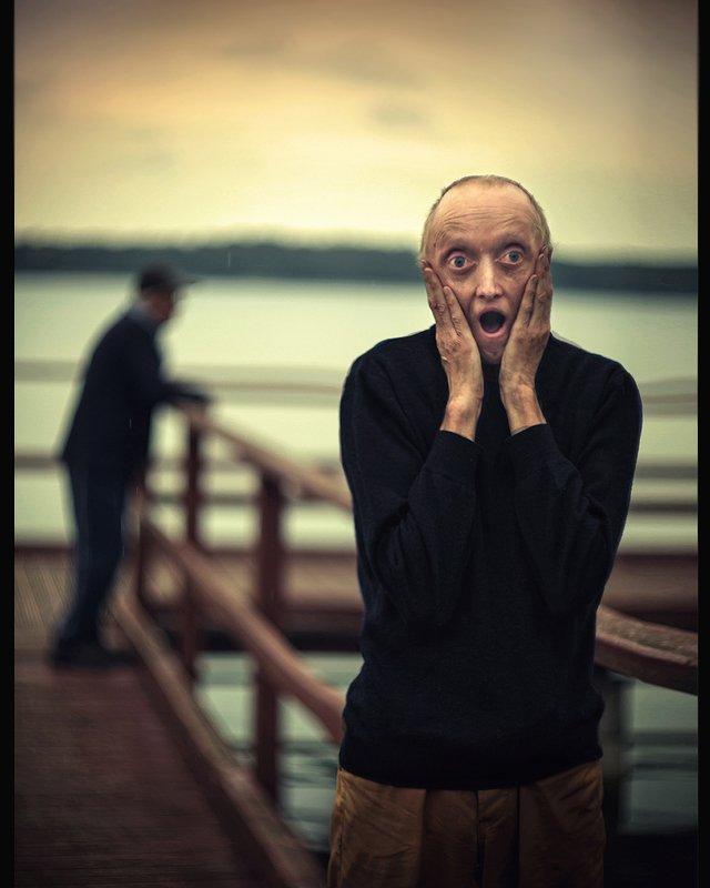 scream krzyk кричать emotional portrait dranikowski munch art face sky lake fear Scream.. 2020photo preview