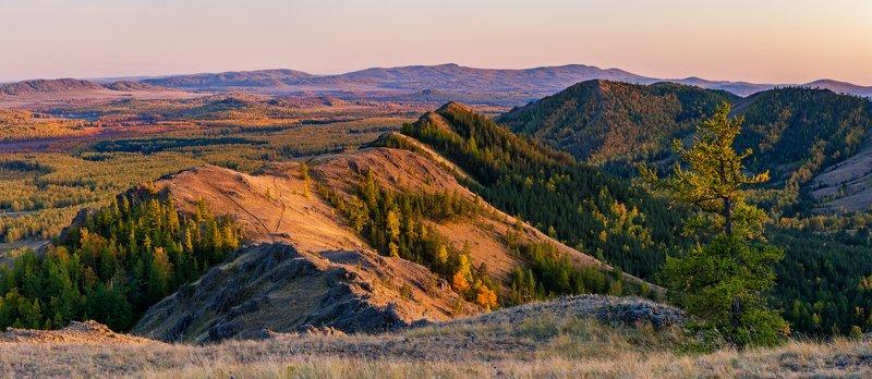 осень, пейзаж, панорама, южный урал, башкирия, горы Осень на склонах Нуралиphoto preview
