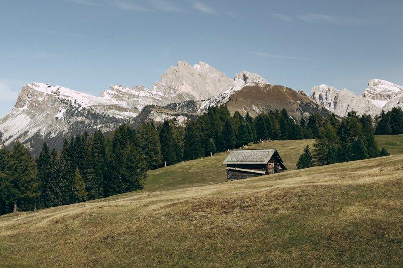 домик; горы; лес; осень Переходной сезонphoto preview