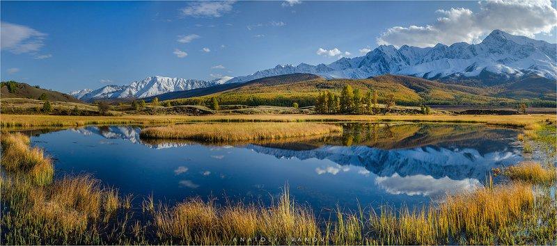 республика алтай, урочище ештыкёль, озеро джангысколь, северо-чуйский хребет Золотая осень на Алтаеphoto preview