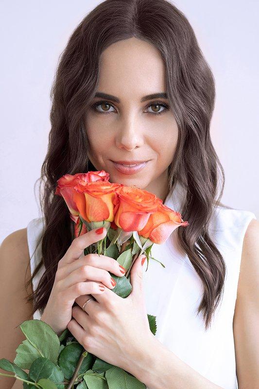 девушка, розы, портрет, молодая, цветы, красивая Машаphoto preview