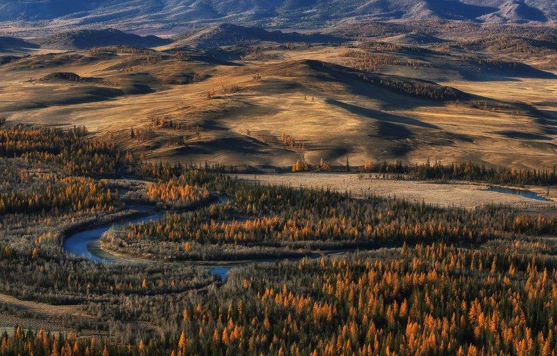 алтай, горный алтай, горы, сибирь, курай Осень в Кураеphoto preview
