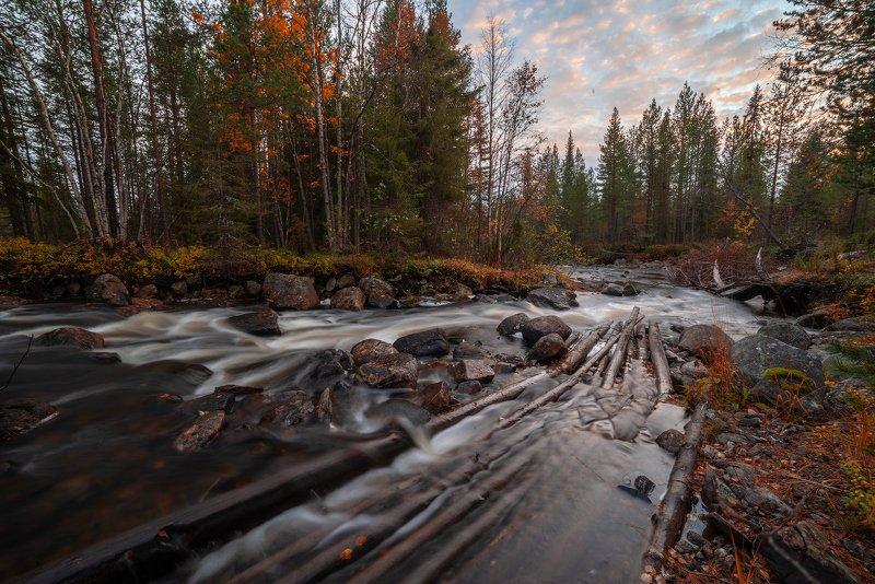 север, кольский, хибины, заполярье, имандра,осень, Река-осень.photo preview