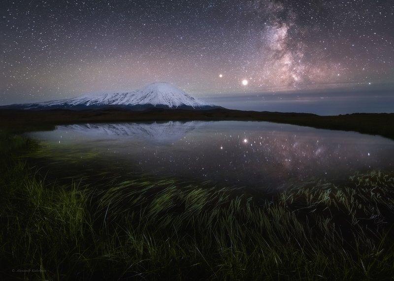 камчатка,толбачик,ночь,пейзаж,звёзды Ночь в долине великанов...photo preview