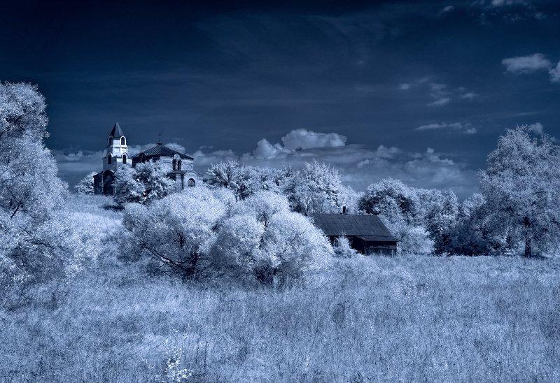 infrared,ик-фото,инфракрасное фото, инфракрасная фотография, пейзаж, лето Пейзаж из повседневной жизни.photo preview