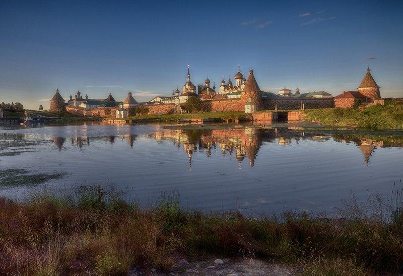 пейзаж,архитектура,монастырь,север,остров,соловецкий_архипелаг на закате...photo preview