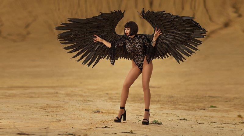 гламур,красотка,erotic, nude ,melefara, photographer, photo, эротика , фотограф ,black angel, angel, ангел My black angelphoto preview