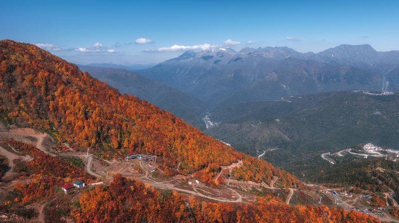 сочи, роза хутор, осень, золотая осень, пейзаж, горы Осеньphoto preview