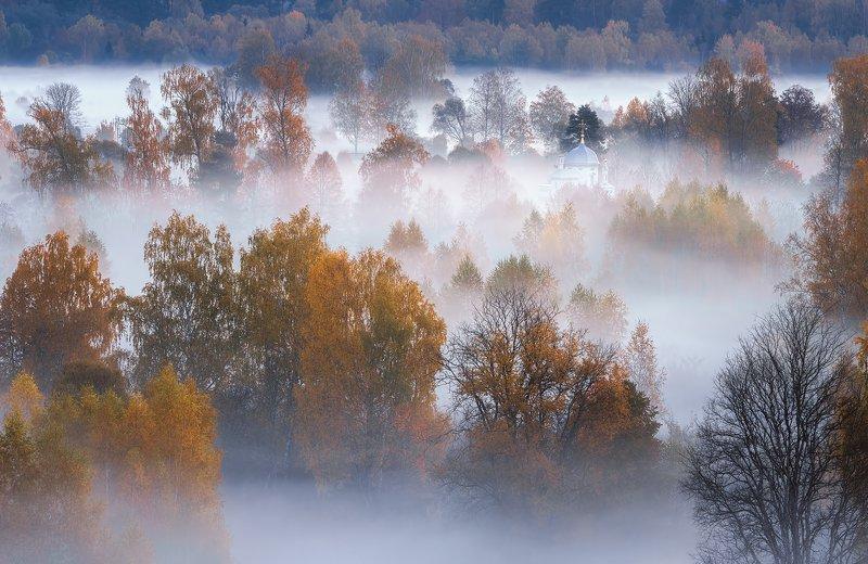 истра, осень, пейзаж, рассвет Молочная рекаphoto preview