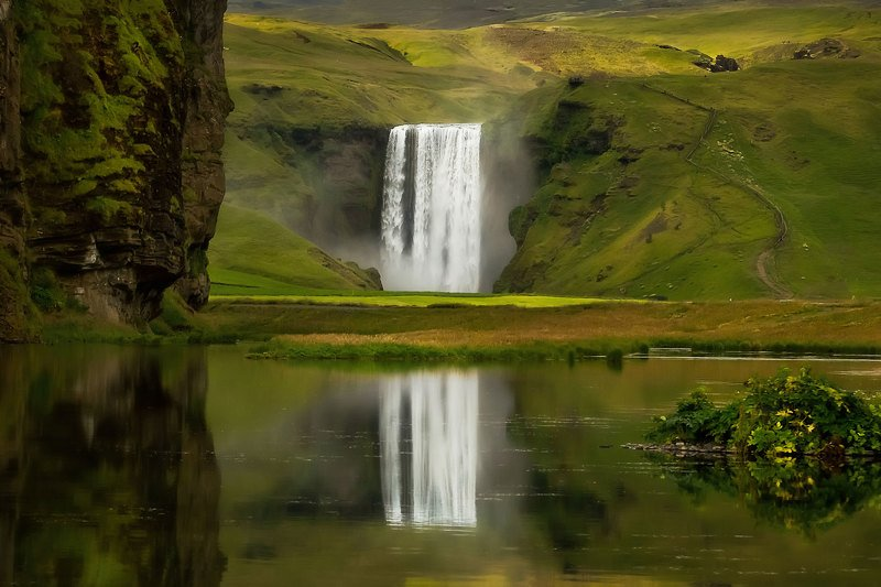 iceland, исландия, waterfall, skogafoss waterfall, south iceland, travel to iceland, skogafoss Waterfallphoto preview