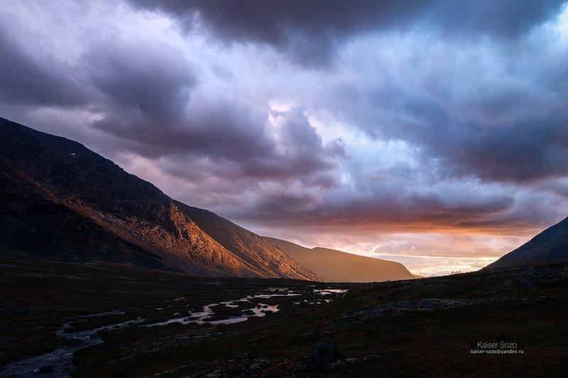 горы, полярный круг, кольский, мурманская область, хибины, малая белая Бегущие за светомphoto preview
