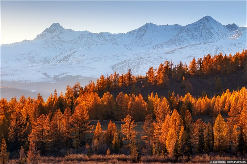 алтай, горы, горный алтай,закат, шенелю, #осень2020, октябрь, аня графова Массив Шенелю над закатным огнёмphoto preview