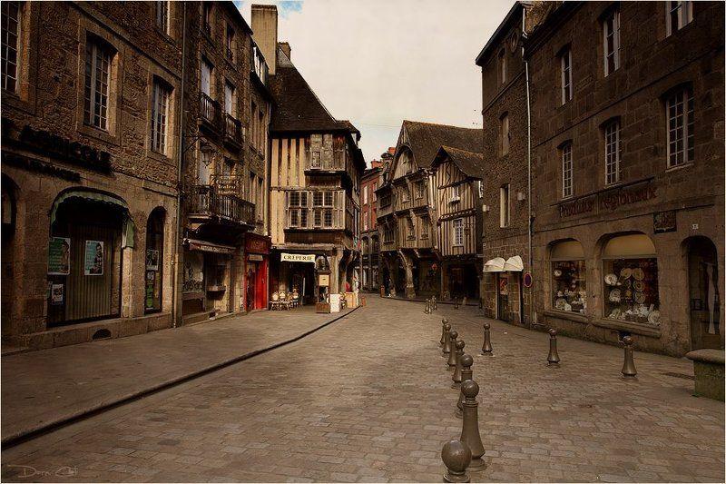 франция, динан, город, улочка, средневековье, дома По улочкам Динанаphoto preview