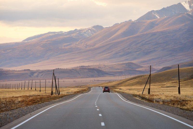 алтай, чуйский тракт, горы, дорога Возвращаясь домойphoto preview