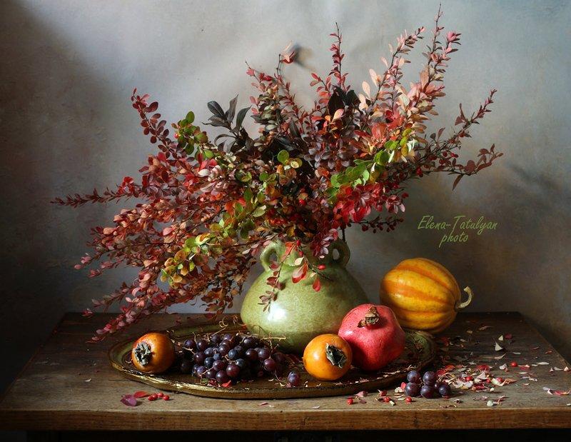 ветки, фрукты Осенний букет фото превью