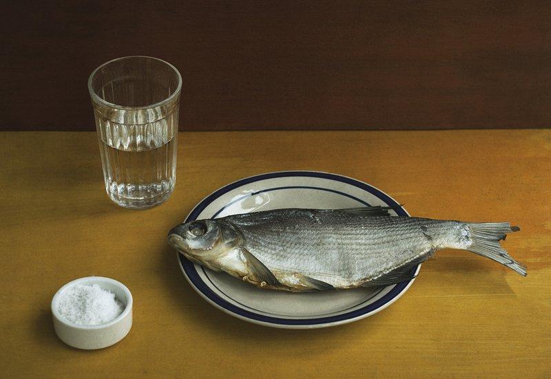 натюрморт, минимализм, таранка, тарань, рыба photo preview