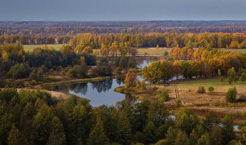 октябрь вязники быковка пойма клязьмы Вид на озеро Быковскоеphoto preview