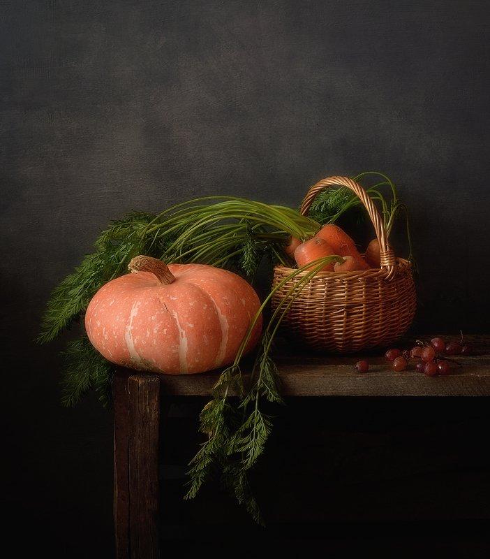натюрморт,тыква,морковь,осень осенние дары )photo preview