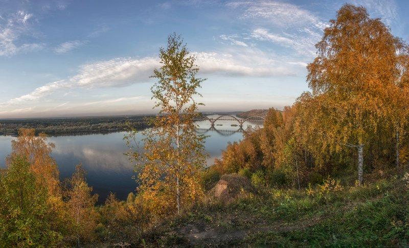 нижний новгород, сартаково, ока, мост, вечер, октябрь Сартаковский мост.photo preview