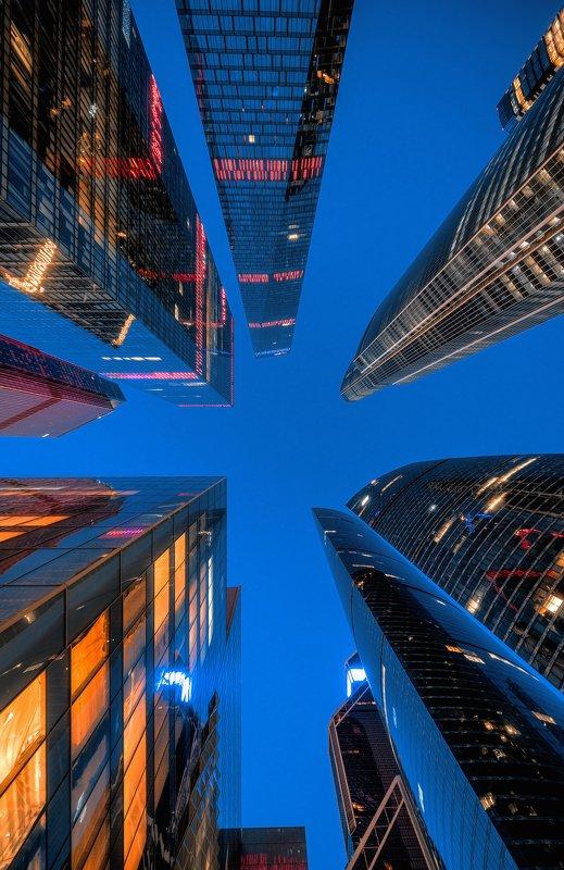 москва, россия, москва сити, деловой центр, город, архитектура, ночь, иллюминация, moscow, city Москва-Ситиphoto preview
